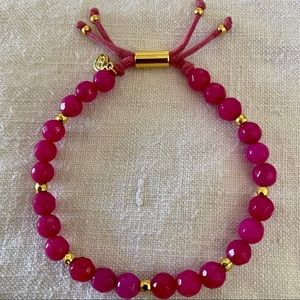 Gorjana Pink Jade Gold Power Bead Bracelet - Dream